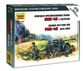 Zvezda 6257 German Anti-Tank Gun PaK-40 with Crew