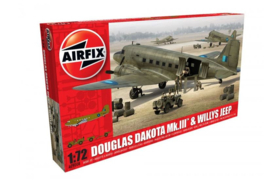 Airfix A09008 DOUGLAS DAKOTA Mk.III & WILLYS JEEP