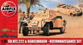 Airfix A02312 Sd.Kfz.222 & Kubelwagen Reconnaissance Set