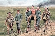 MB 35158 British and German soldiers, Somme Battle, 1916