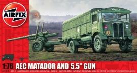 """Airfix A01314 AEC Matador and 5,5"""" Gun"""
