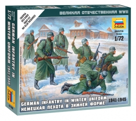 Zvezda 6198 German Infantry in winter uniform