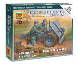 Zvezda 6156 German 75-mm Infantry Gun with Crew