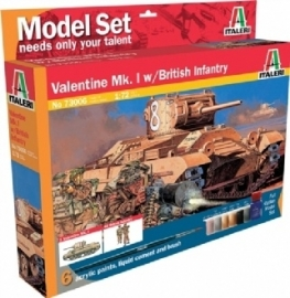 Italeri 73006 Valentine Mk.I with British Infantry