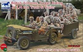 Bronco CB35169 British Airborne Troops Riding In ¼ Ton Truck & Trailer