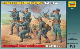 Zvezda 8078 German Infantry Platoon 1942-1944