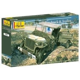 Heller 79997 US ¼ ton Truck & Trailer