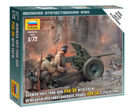 Zvezda 6114 German Anti-Tank Gun PaK-36 with Crew