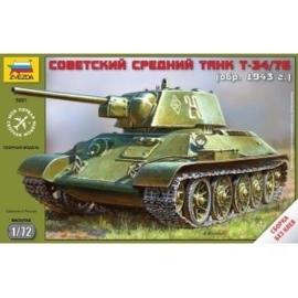 Zvezda 5001 Soviet Medium Tank T-34/76