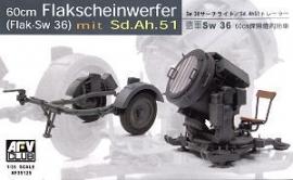 AFV Club 35125 60cm Flakscheinwerfer (Flak-Sw 36)