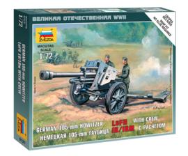 Zvezda 6121 German 105 mm Howitzer leFH 18/18M with Crew