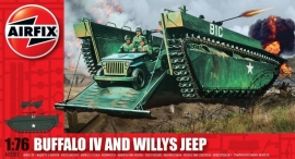 Airfix A02302 Buffalo IV and Willys Jeep