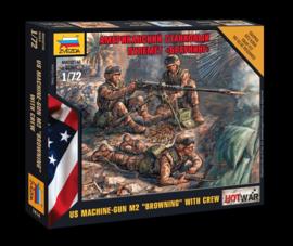 """Zvezda 7414 US """"BROWNING"""" Machine Gun with crew"""