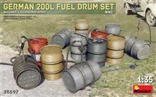 Mini Art 35597 German 200L Fuel Drums WW2