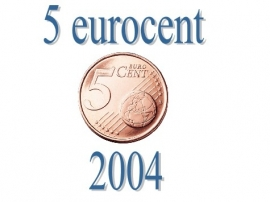Luxemburg 5 eurocent 2004