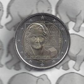 """Italië 2 euromunt CC 2020 (27e)""""150e Verjaardag van Maria Montessori"""""""