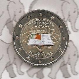 "Portugal 2 euromunt CC 2007 ""Verdrag van Rome"" (kleur)"