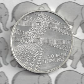 """Duitsland 10 euromunt 2003 (8e) """"50 Jaar Volksopstandstand 17 juni 1953"""" (nikkel)."""