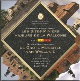 """België BU set 2013 """"Kolenmijnen van Wallonië"""""""