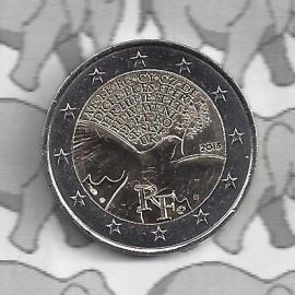 "Frankrijk 2 euromunt CC 2015 (12e)""70 jaar vrede in Europa"""