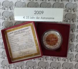 """Oostenrijk 25 euromunt 2009 """"jaar van de astronomie"""" (Niob)"""
