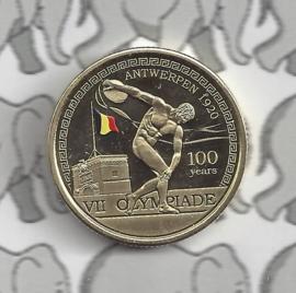 """België 2,5 euromunt 2020 """"100 jaar Olympische Spelen Antwerpen"""" (kleur)"""