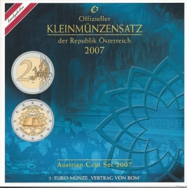 Oostenrijk BU set 2007 (met 2 euro VVR)