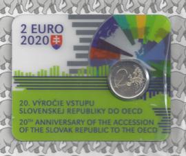 "Slowakije 2 euromunt CC 2020 (13e) ""20 Jaar lid van de OESO"" (in coincard)"