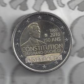 """Luxemburg 2 euromunt CC 2018 (23e) """"150 jaar Luxemburgse Grondwet"""""""