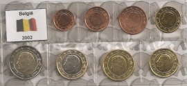 België UNC serie 2002