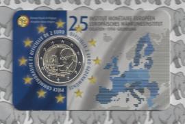 "België 2 euromunt CC 2019 ""25 Jaar Europees Monetair Instituut (EMI)"" in coincard Franse versie"