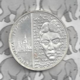 """Duitsland 10 euromunt 2008 (36e) """"125e Verjaardag Franz Kafk."""" (zilver)."""
