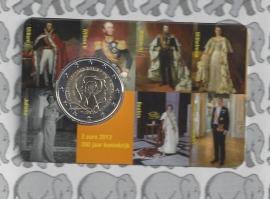 """Nederland 2 euromunt CC 2013 """"200 jaar Koninkrijk"""" in coincard 2e versie"""