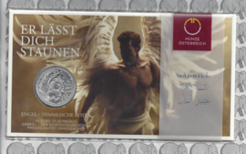 "Oostenrijk 10 euromunt 2017  ""Engel Gabriël"". Zilver in blister"