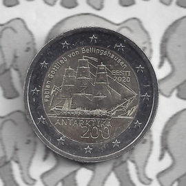 """Estland 2 euromunt CC 2020 """"200 Jaar na de ontdekking van Antarctica"""""""