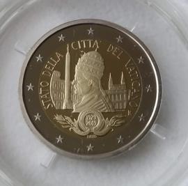 """Vaticaan 2 euromunt CC 2019 """"90 jaar Vaticaan"""", proof in doosje met certificaat"""
