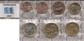 Griekenland UNC serie 2011 (7 munten, exlusief 2 euromunt)