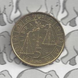"""San Marino 5 euromunt 2020 """"Horoscoop Weegschaal"""" (7 van 12)"""
