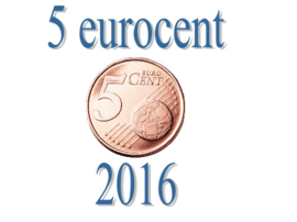 Luxemburg 5 eurocent 2016