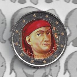 "Italië 2 euromunt CC 2013 ""700ste geboortedag van Giovanni Boccacio"" (kleur)"