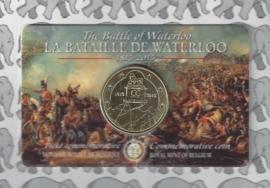 """België 2,5 euromunt 2015 """"de slag bij Waterloo"""" (in coincard)"""
