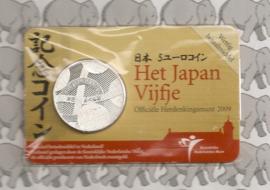 "Nederland 5 euromunt 2009 (13e) ""400 jaar Nederland-Japan"" (in coincard)"