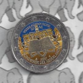 "Nederland 2 euromunt CC 2007 "" Verdrag van Rome "" (kleur)"
