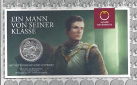 """Oostenrijk 10 euromunt 2019 (35e) """"Chivalry (Ridderlijkheid)"""". Zilver in blister"""