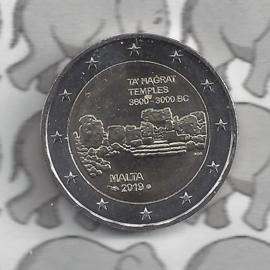 "Malta 2 euromunt CC 2019 ""Ta' Hagrat tempels"", met muntteken Monnaie de Paris"