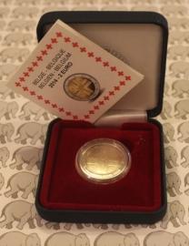"""België 2 euromunt CC 2014 """"150 jaar Rode kruis"""" proof in doosje"""