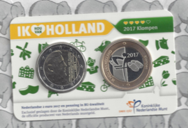 "Nederland Holland Coin Fair coincard 2017 ""Klompen"""
