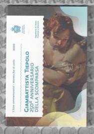 """San Marino 2 euromunt CC 2020 (24e) """"250e Sterfdag van Giovanni Battista Tiepolo"""" (in blister)"""