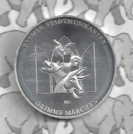 """Duitsland 20 euromunt 2017 (6e) """"Bremer Stadsmuzikanten"""", zilver"""