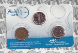 Nederland coincard 2015 Fluitje van 1 cent